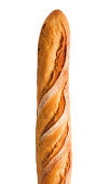 Baquette, Crusty French Bread Loaf, Starch Food Isolated on White