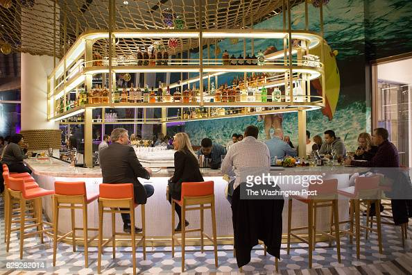 Opening of mgm grand stock photos and pictures getty images for Fish by jose andres