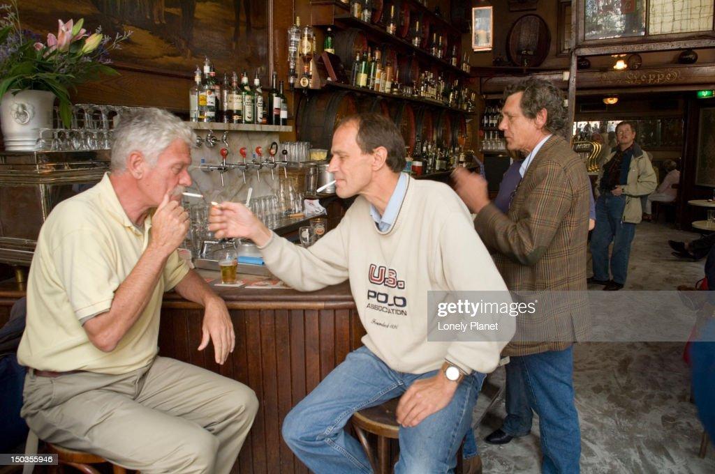 Bar at 'Hoppe' Bar. : Stock Photo