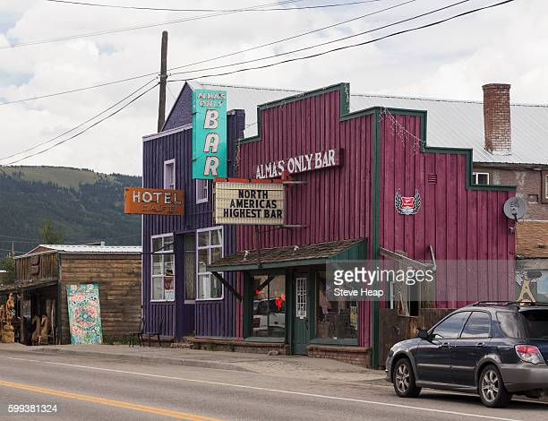 Bar, cafe and hotel in Alma, Colorado, USA - the highest town in North America