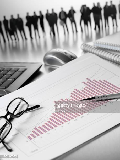 Bar Chart and a Business Team