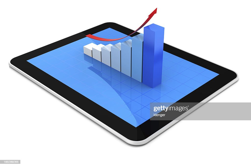 Bar Chart and Tablet PC