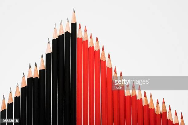Bar chart with pencils