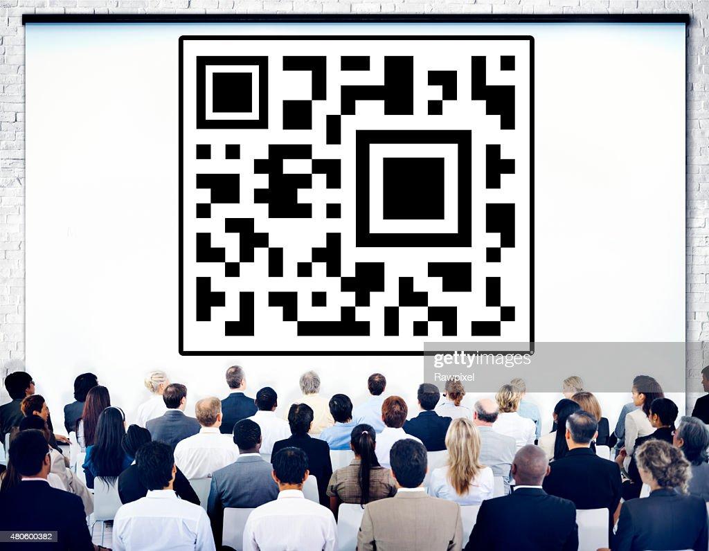 Bar Code Identity Marketing Data Encryption Concept : Stock Photo