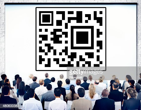 Bar Code Identity Marketing Data Encryption Concept : Stock Photo