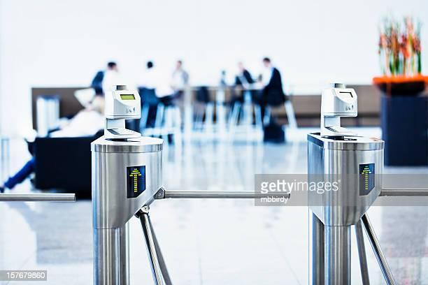 Bar code ticket scanners at fair