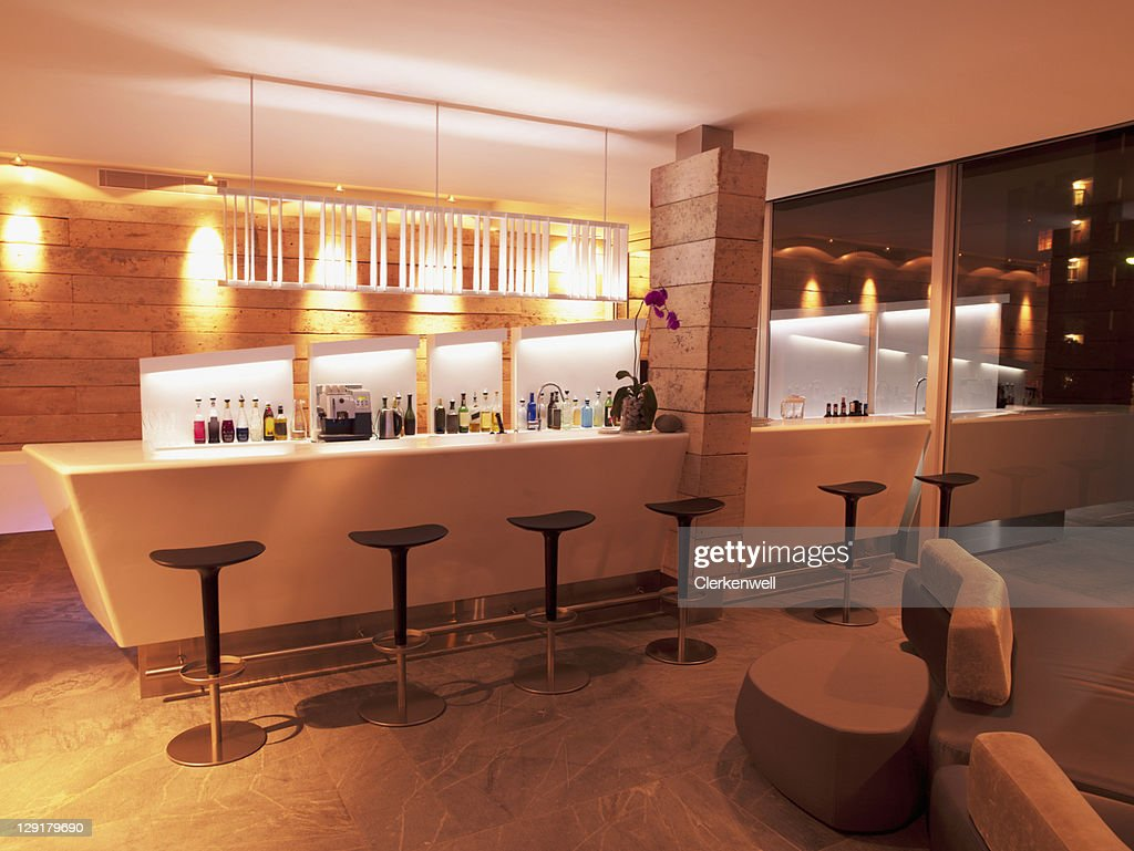 Bar counter in luxury hotel : Stock Photo