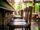 Bar Counter seat row Restaurant Interior Vintage style