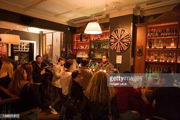 Bar crowd in English Pub.