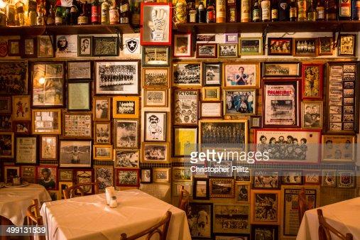 Bar dedicated to soccer memorabilia