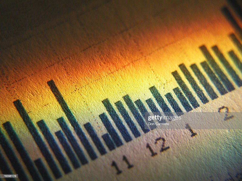 Bar graph : Stock Photo