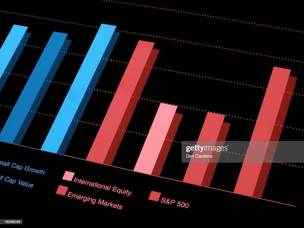 Bar graph : Stock Photo