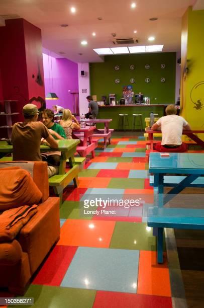Bar in the Purple Nest Hostel, Plaza Tetuan 5.