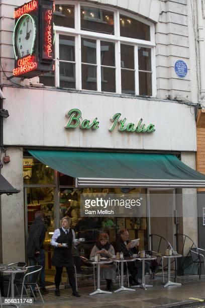 Bar Italia on Frith Street Soho on 7th October 2015 In London United Kingdom