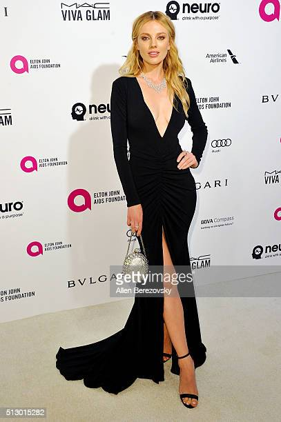 Bar Paly arrives at the 24th Annual Elton John AIDS Foundation's Oscar Viewing Party on February 28 2016 in West Hollywood California