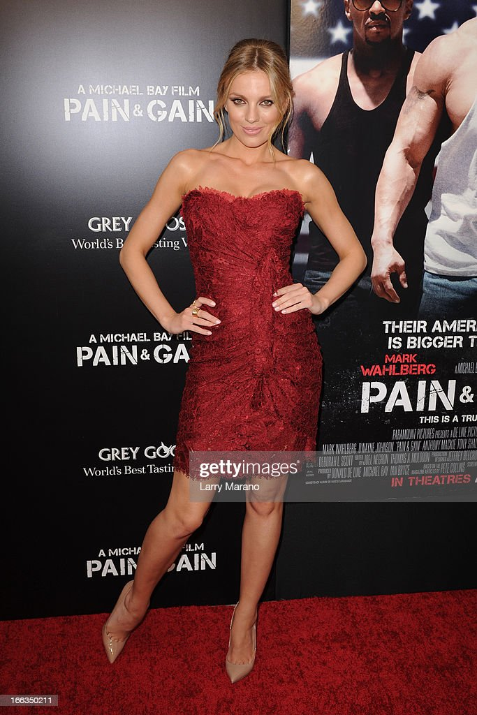 Bar Paly attends the 'Pain & Gain' premiere on April 11, 2013 in Miami Beach, Florida.