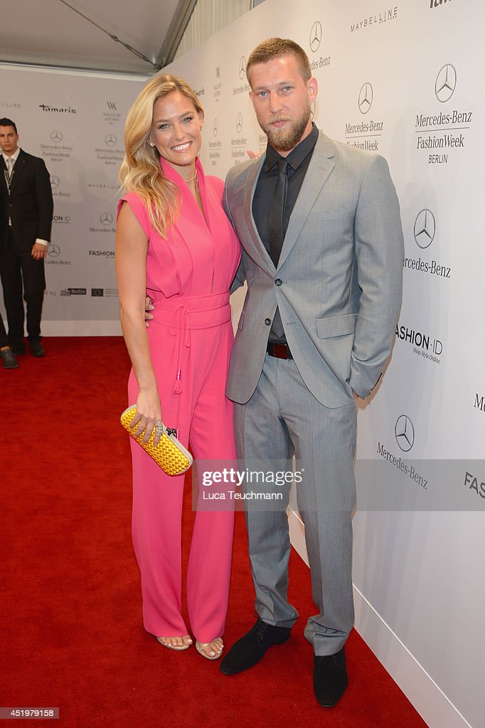 Bar Refaeli and brother Dor attend the Laurel show during the Mercedes-Benz Fashion Week Spring/Summer 2015 at Erika Hess Eisstadion on July 10, 2014 in Berlin, Germany.