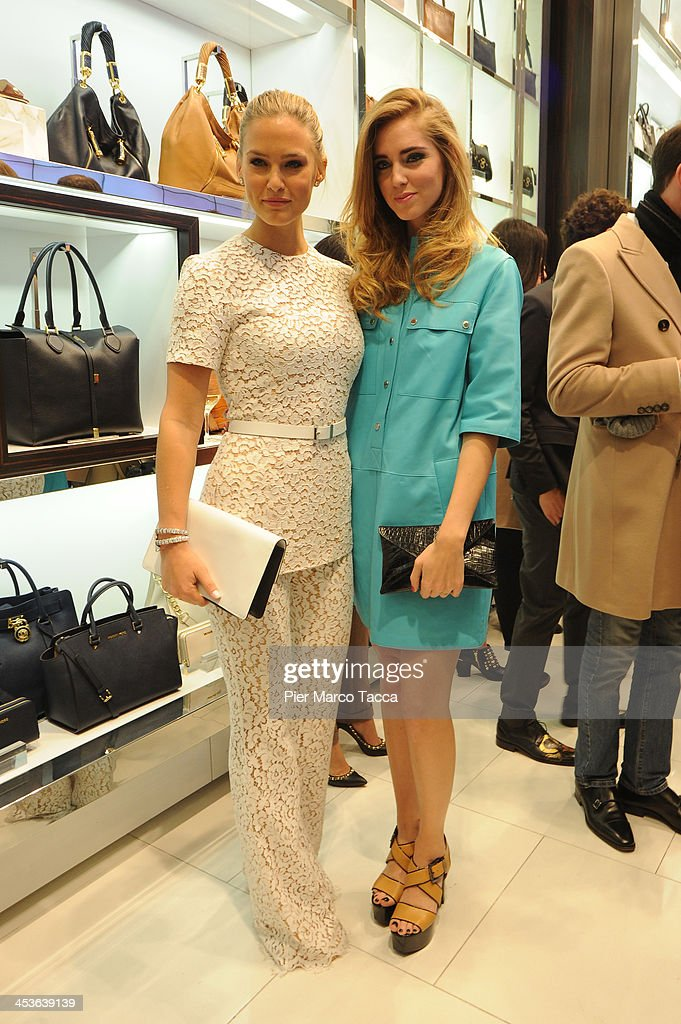 <a gi-track='captionPersonalityLinkClicked' href=/galleries/search?phrase=Bar+Refaeli&family=editorial&specificpeople=468932 ng-click='$event.stopPropagation()'>Bar Refaeli</a> and <a gi-track='captionPersonalityLinkClicked' href=/galleries/search?phrase=Chiara+Ferragni&family=editorial&specificpeople=6755910 ng-click='$event.stopPropagation()'>Chiara Ferragni</a> attend Michael Kors To celebrate Milano opening on December 4, 2013 in Milan, Italy.