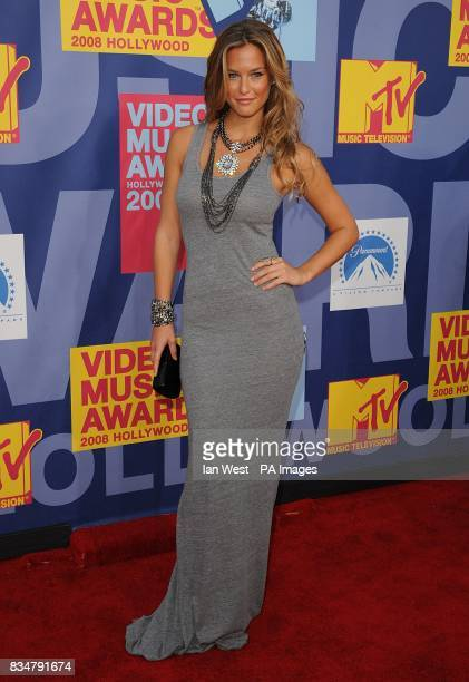 Bar Refaeli arrives for the MTV Video Music Awards 2008 at Paramount Studios Hollywood Los Angeles California
