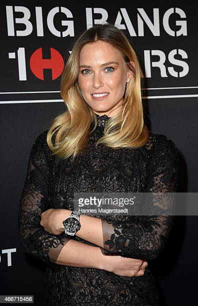 Bar Refaeli at the Hublot booth during the 'Baselworld 2015 on March 18 2015 in Basel Switzerland