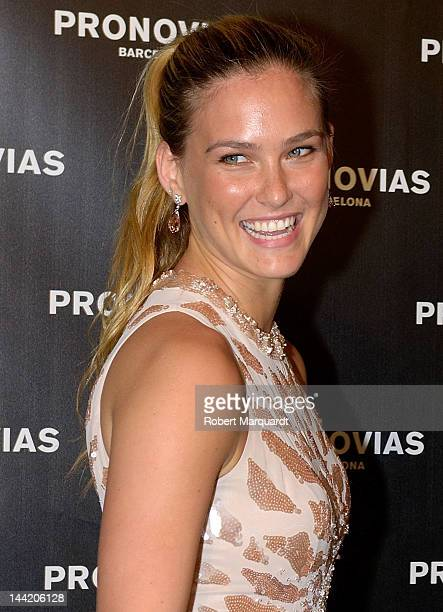 Bar Refaeli attends a photocall for Pronovias Fashion show at the Museu Nacional d'Art de Catalunya on May 11 2012 in Barcelona Spain