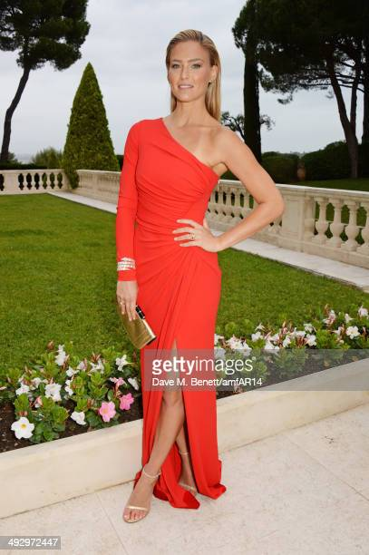 Bar Refaeli attends amfAR's 21st Cinema Against AIDS Gala presented by WORLDVIEW BOLD FILMS and BVLGARI at Hotel du CapEdenRoc on May 22 2014 in Cap...