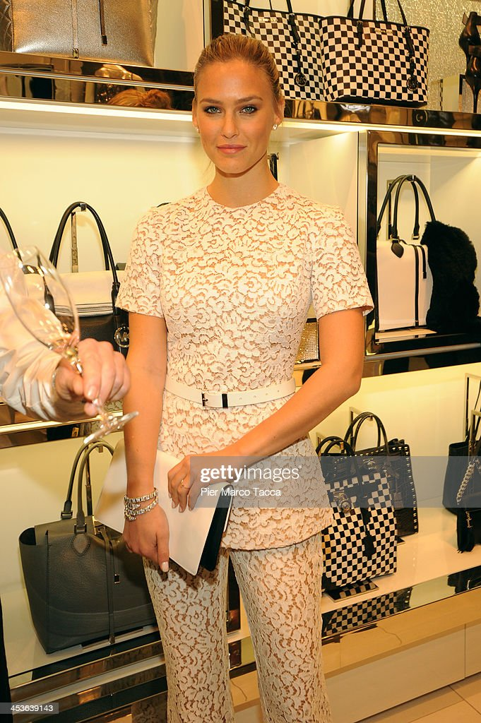 <a gi-track='captionPersonalityLinkClicked' href=/galleries/search?phrase=Bar+Refaeli&family=editorial&specificpeople=468932 ng-click='$event.stopPropagation()'>Bar Refaeli</a> attends Michael Kors To celebrate Milano opening on December 4, 2013 in Milan, Italy.