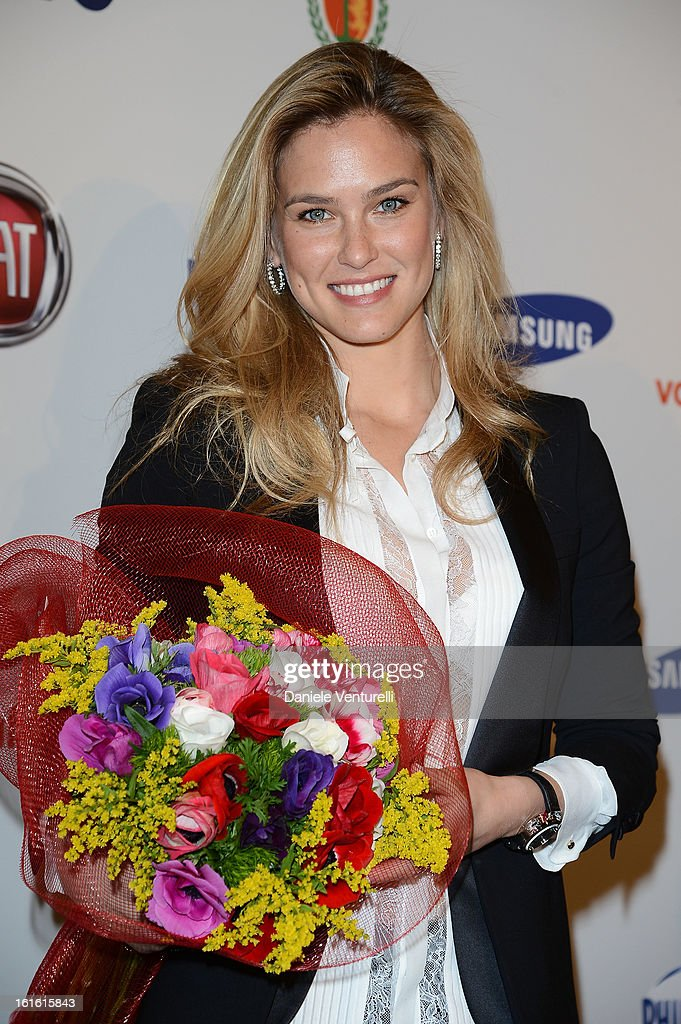 Bar Refaeli attends the Day 2 Photocall during the 63th Festival di Sanremo 2013 on February 13, 2013 in Sanremo, Italy.