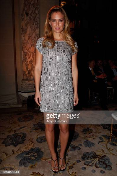 Bar Refaeli attends the Marchesa Fall 2012 fashion show during MercedesBenz Fashion Week at The Plaza Hotel on February 15 2012 in New York City