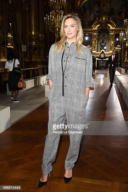 Bar Refaeli attends the Stella McCartney show as part of the Paris Fashion Week Womenswear Spring/Summer 2015 on September 29 2014 in Paris France