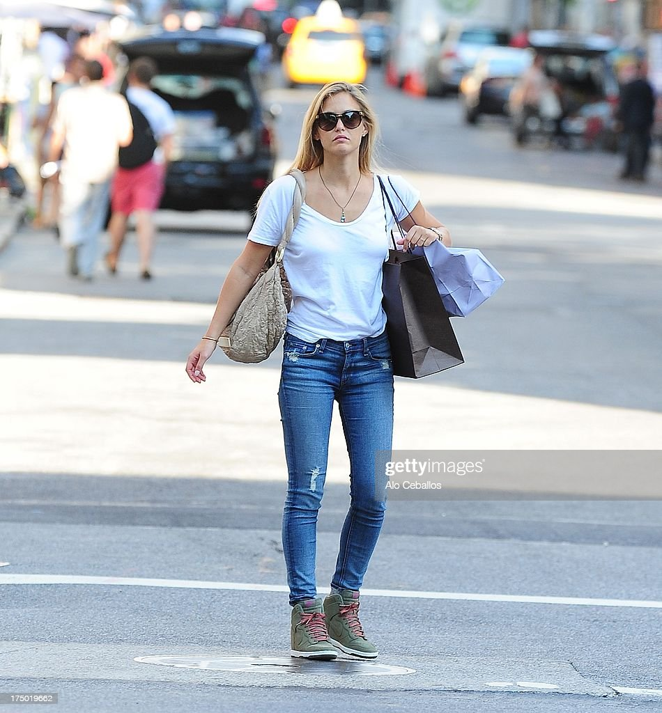 Bar Refaeli is seen in Soho on July 29, 2013 in New York City.