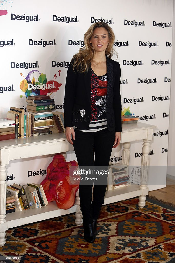 Bar Refaeli presents 'We Love' by Desigual as part of the 080 Barcelona Fashion Week Autumn/Winter 2013-2014 on January 29, 2013 in Barcelona, Spain.