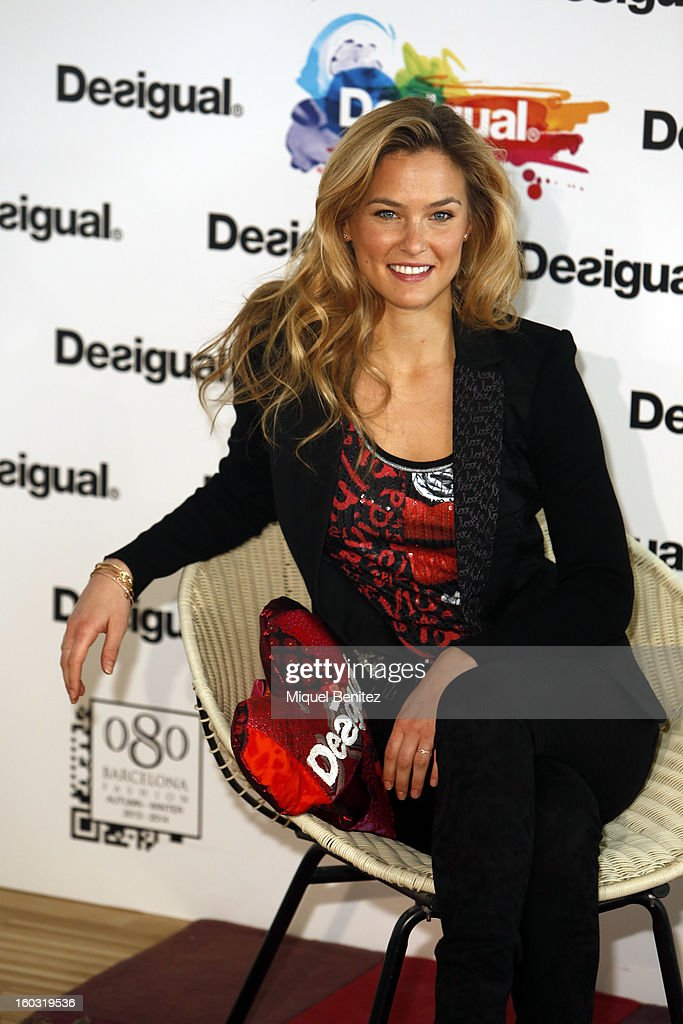 <a gi-track='captionPersonalityLinkClicked' href=/galleries/search?phrase=Bar+Refaeli&family=editorial&specificpeople=468932 ng-click='$event.stopPropagation()'>Bar Refaeli</a> presents 'We Love' by Desigual as part of the 080 Barcelona Fashion Week Autumn/Winter 2013-2014 on January 29, 2013 in Barcelona, Spain.
