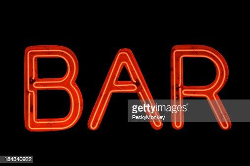 bar signe en n on rouge noir photo getty images. Black Bedroom Furniture Sets. Home Design Ideas