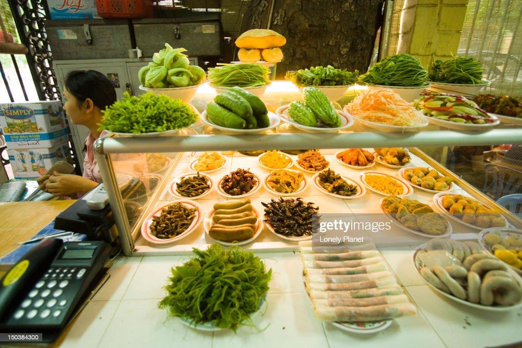 Bar snacks at Lan Chin Bia Hoy, French Quarter. : Stock Photo