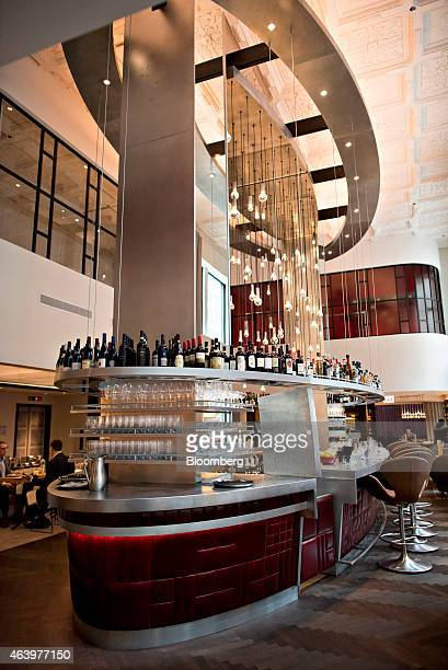 A bar stands inside The Commons Club at the Virgin Hotels Chicago in Chicago Illinois US on Friday Feb 20 2015 The 250room hotel in Chicago's Loop...