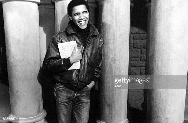 Barack Obama as student at Harvard university c 1992