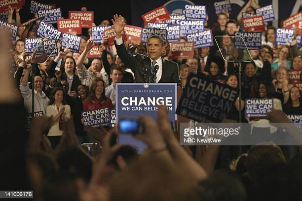 NBC NEWS Barack Obama Campaign Pictured Senator and Presidential candidate Barack Obama during his campaign for the Democratic nomination in Chicago...