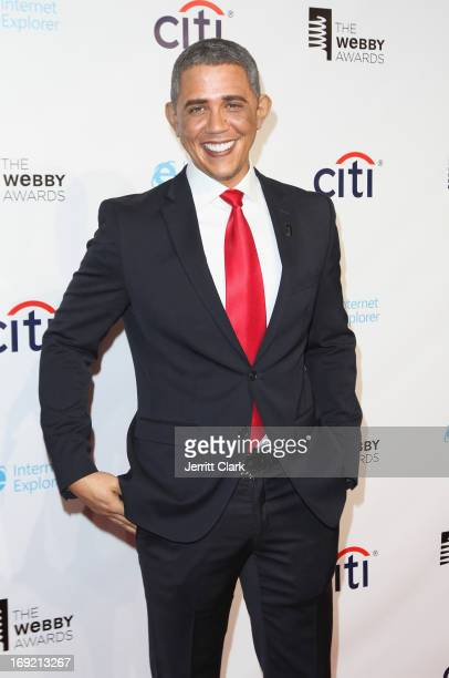 Barack Obama impersonator Reggie Brown attends the 2013 Webby Awards at Cipriani Wall Street on May 21 2013 in New York City