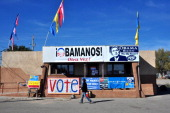 Barack Obama supporter visits the Democratic Party's headquarters in Espanola New Mexico a few days before the 2012 presidential election A majority...