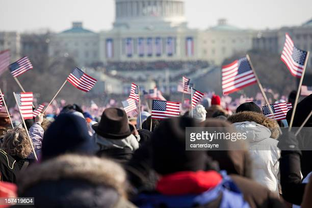 Barack Obama's Presidential Inauguration at Capitol Building, Washington DC