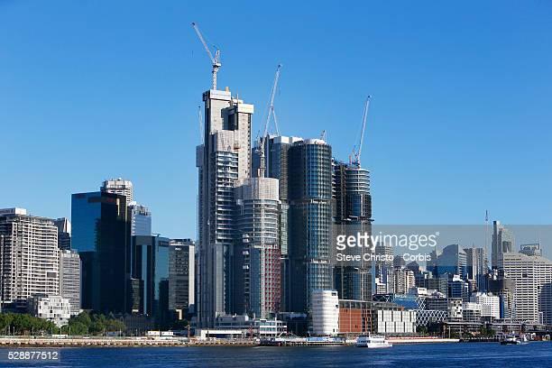 Barangaroo site with city skyline from Balmain East in Sydney Australia Monday Nov 16th 2015