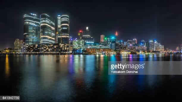 Barangaroo, Sydney at Night Parorama