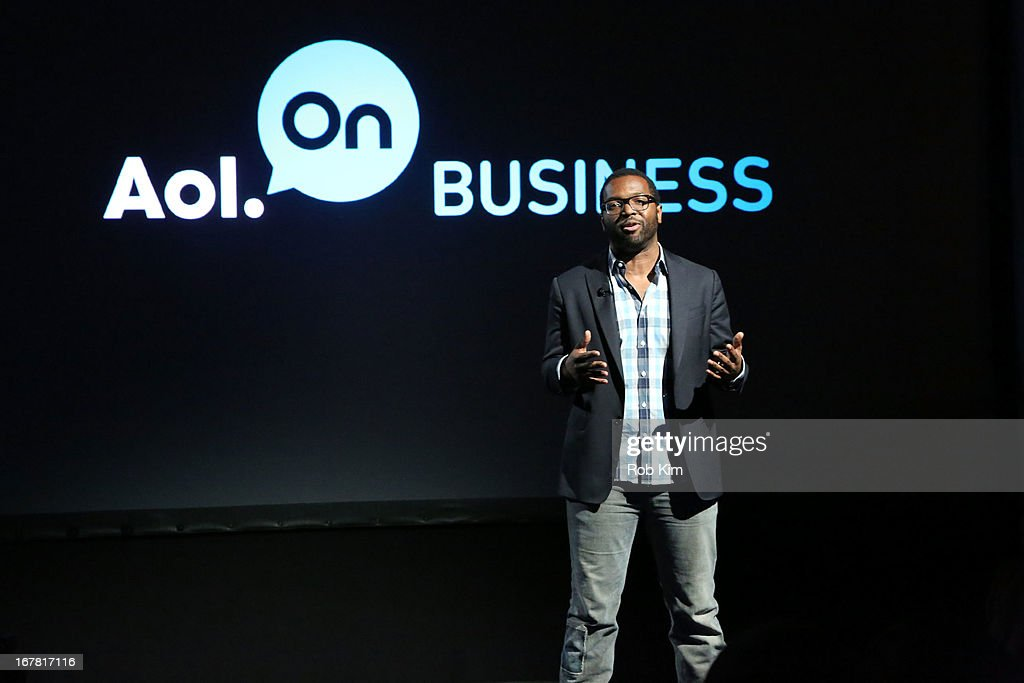 Baratunde Thurston speaks onstage at the AOL 2013 Digital Content NewFront on April 30, 2013 in New York City.
