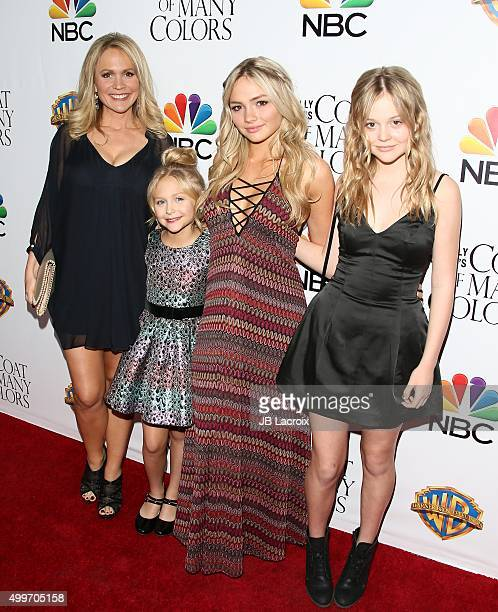 Barbara Alyn Woods Alyvia Alyn Lind Natalie Alyn Lind and Emily Alyn Lind attend the premiere of Warner Bros Television's 'Dolly Parton's Coat Of...