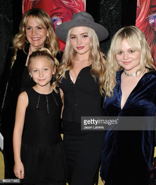 Barbara Alyn Woods Alyvia Alyn Lind Natalie Alyn Lind and Emily Alyn Lind attend the premiere of 'The Babysitter' at the Vista Theatre on October 11...
