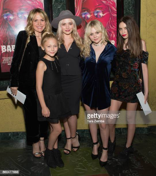 Barbara Alyn Woods Alyvia Alyn Lind Natalie Alyn Lind and Emily Alyn Lind attend the premiere of Netflix's 'The Babysitter' at the Vista Theatre on...