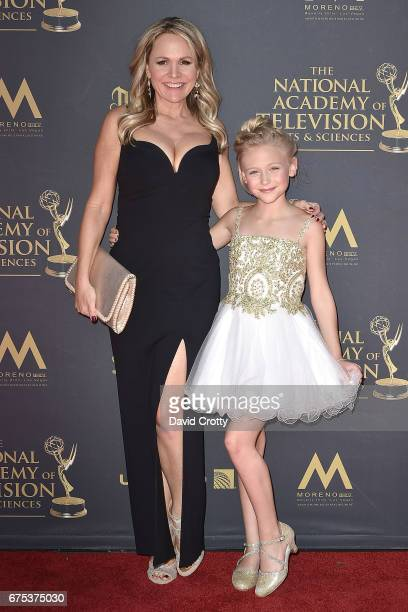 Barbara Alyn Woods and Alyvia Alyn Lind attend the 44th Annual Daytime Emmy Awards Arrivals at Pasadena Civic Auditorium on April 30 2017 in Pasadena...