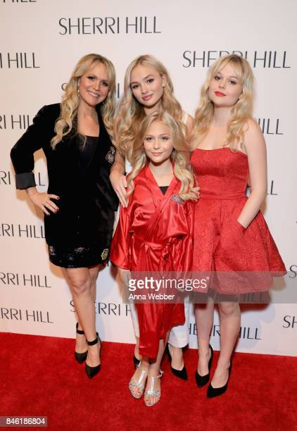 Barbara Alyn Woods Emily Alyn Lind Alyvia Alyn Lind and Natalie Alyn Lind attend the Sherri Hill NYFW SS18 runway show at Gotham Hall on September 12...