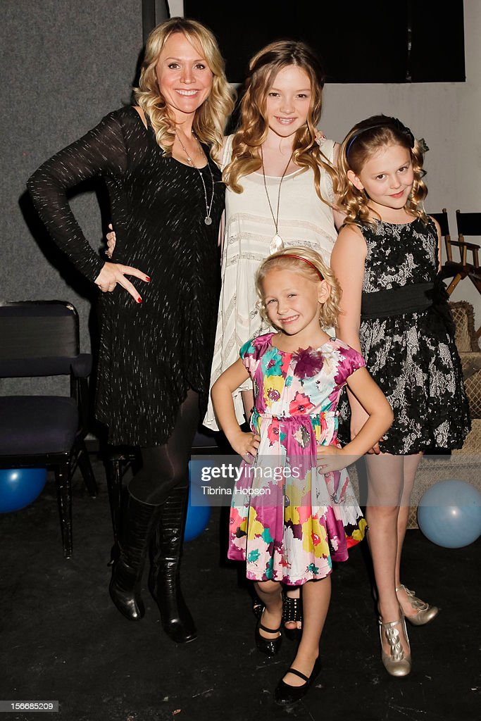 Barbara Alyn Woods, Natalie Alyn Lind, Emily Alyn Lind and Alyvia Alyn Lind (C) attend the 2nd annual Dream Magazine winter wonderland Eevent at TDJ Studios on November 18, 2012 in North Hollywood, California.